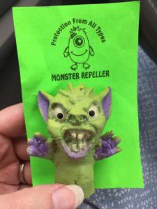 Monster Day Repellent Finger Puppet