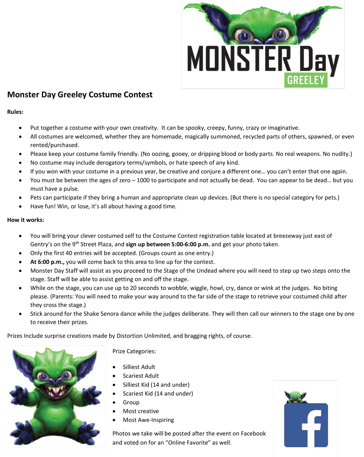 monster day greeley 2018 costume contest | monster day greeley